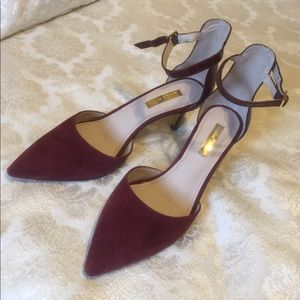 Louise et Cie wine color heels with strap